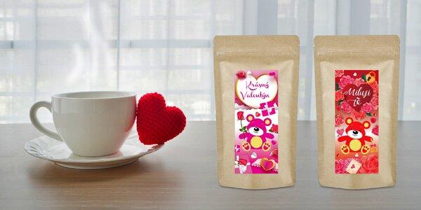 Medvídkové čaje v romantickém valentýnském balení