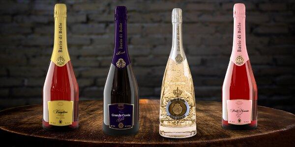 Moldavská šumivá vína: růžová i bílé s kousky zlata