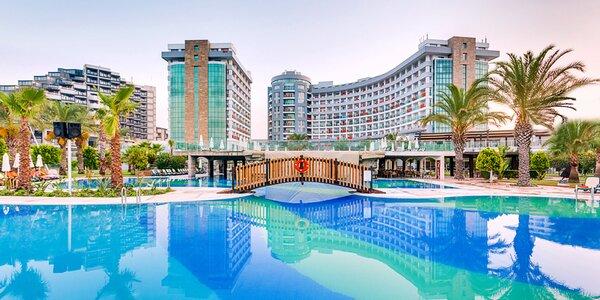 Antalya Lara. 5* hotel s all inclusive i aquaparkem