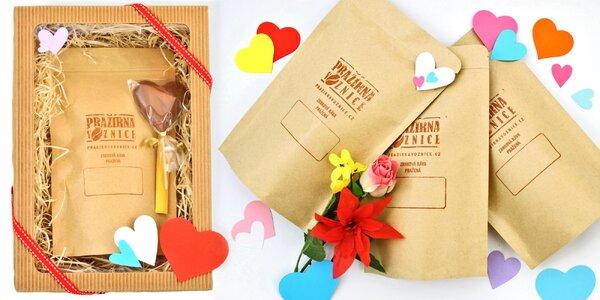 Valentýnský balíček kávy i degustační set