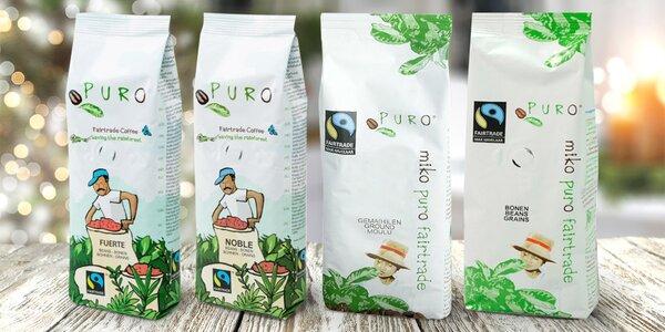 Balení fair trade kávy: zrnková nebo mletá