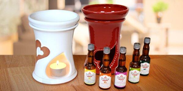 Ručně vyráběná aromalampa s esenciálním olejem