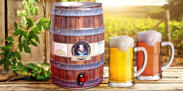 Soudek nefiltrovaného polotmavého piva 13°