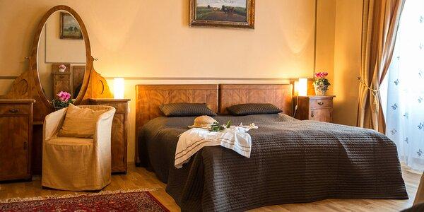 Pobyt v zámeckém pokoji či apartmánu pro 2 i rodinu