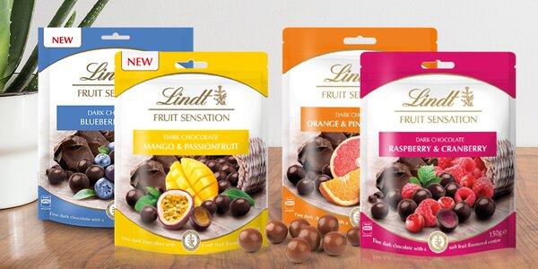Tmavé pralinky Lindt s lahodnou ovocnou náplní
