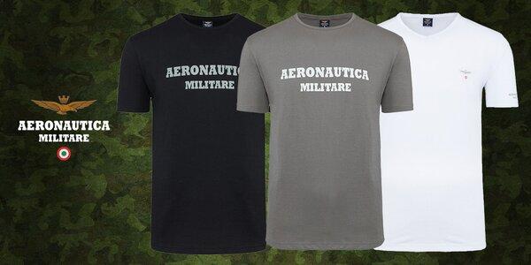 Set 3 triček italské značky Aeronautica Militare
