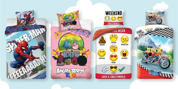 Bavlněné povlečení: Angry Birds, Warcraft i Batman