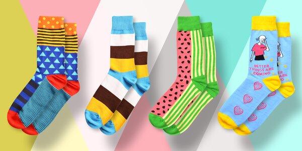 Ulítlé obrázkové ponožky Suxo ve vel. 43–46