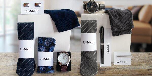 Balíček perfektního muže: kravata, hodinky i pero