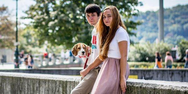 Romantické párové focení v pražských ulicích