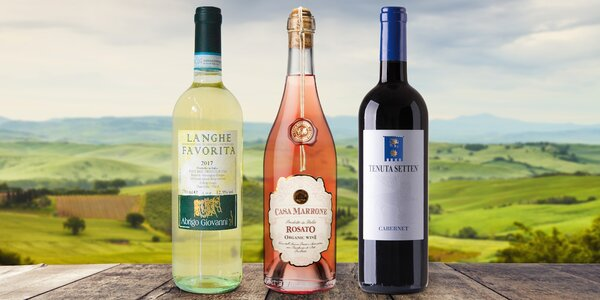 Kvalitní vína přímo z Itálie: samostatně i v setu