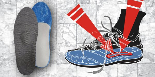 Vložky do bot proti zápachu s podporou klenby