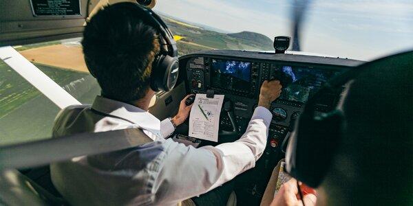 Cessna C172: 20, 30 nebo 40 min. pilotování