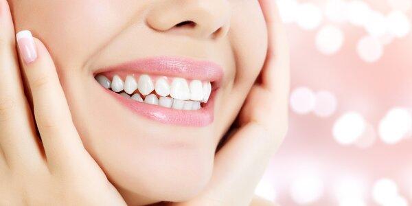 Neperoxidové bělení zubů: až 3 aplikace