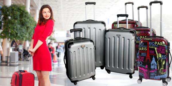 Sady cestovních kufrů ve třech velikostech