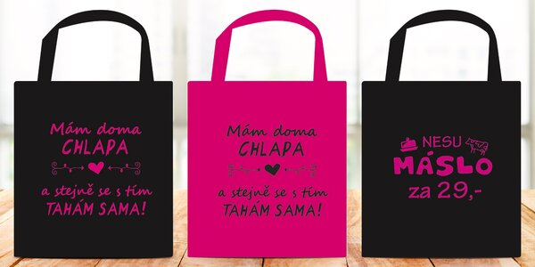 Vtipná taška na nákupy