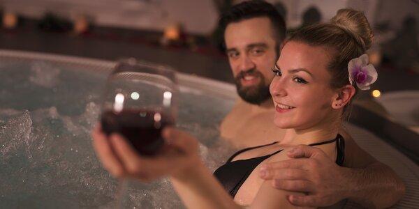 Privátní wellness pro pár: vířivka a infrasauna