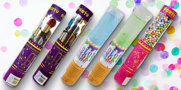 Vystřelovací barevný prášek nebo konfety