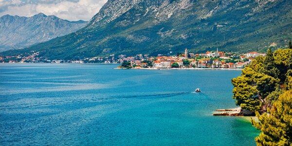 Makarská s polopenzí a návštěvou Plitvických jezer