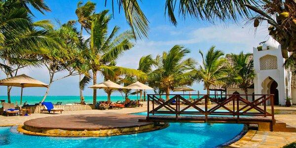 4* resort s tropickou zahradou a přímo u pláže Kiwenga