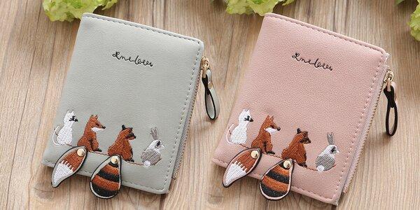 Dámská peněženka se zvířátky: 4 různé barvy