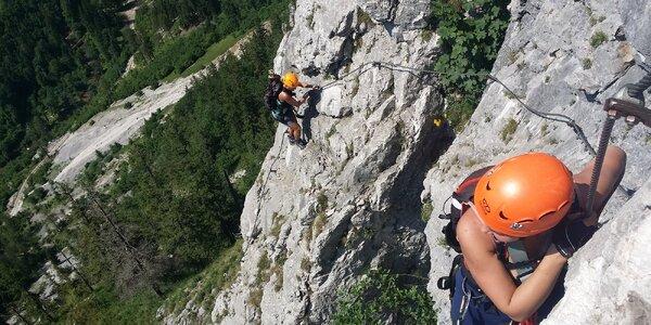 Zážitkové lezení: Via Ferrata nedaleko hradu Vrabín