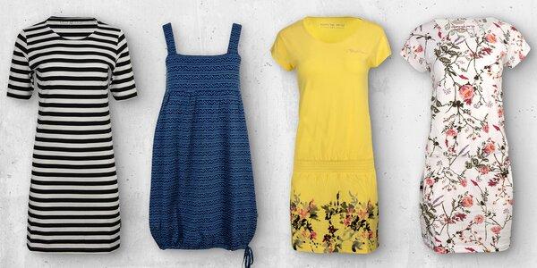 Dámské šaty Alpine Pro: květinové i na ramínka