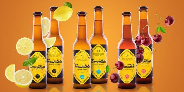 Balení 100% přírodních fermentád ve 3 příchutích