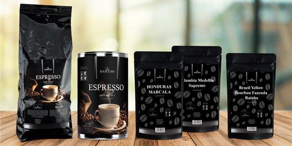 Mletá nebo zrnková káva vhodná na filtr i espresso
