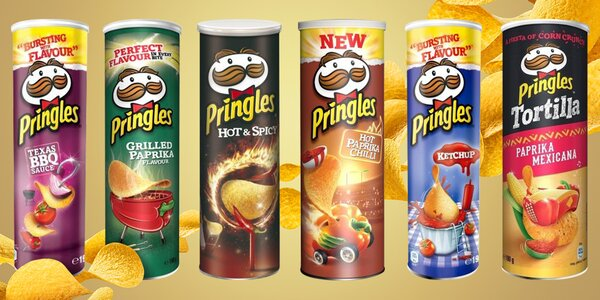 Balení chipsů Pringles: 11 příchutí