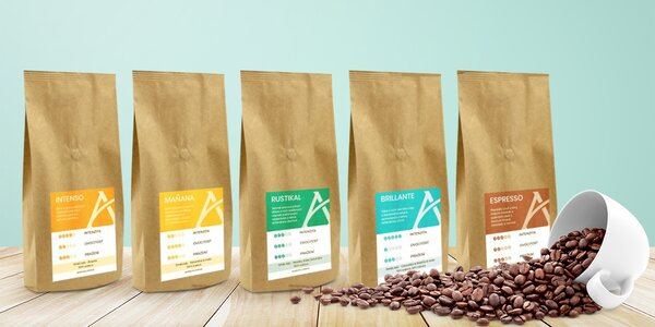 7 degustačních balíčků kávy Alesio