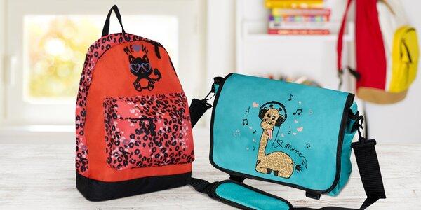 Dětské batohy a tašky přes rameno: žirafa či kočka