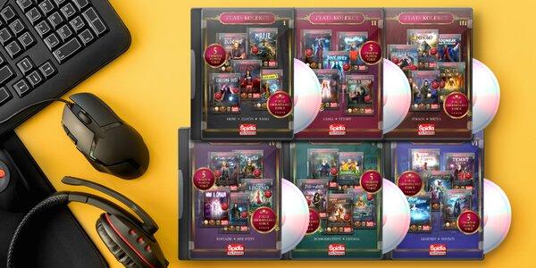 Kolekce 30 a 66 počítačových her na DVD v češtině