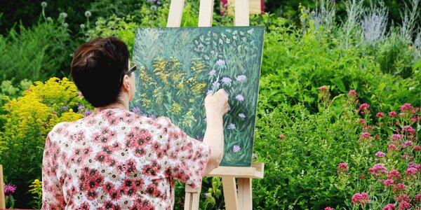 Kurz malování v bylinkové zahradě ve Valticích
