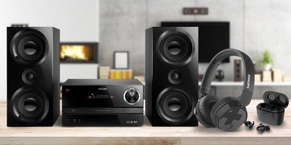 Sluchátka, audiosystém i soundbar od Philipsu
