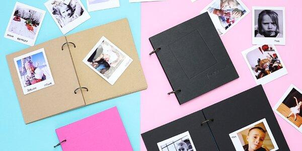 Malá fotoalba z recyklovaného papíru: 4 barvy