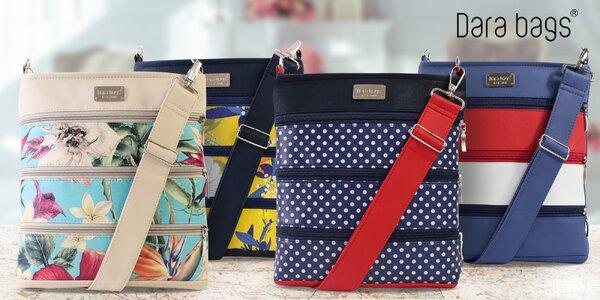 Celokoženkové kabelky Dariana Middle se zipy