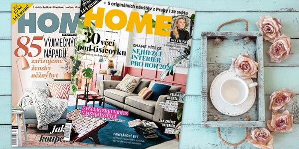 Roční předplatné časopisu Home o bydlení a bonus