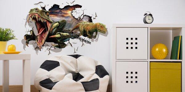 Samolepky s 3D efektem nejen na zeď, 17 motivů