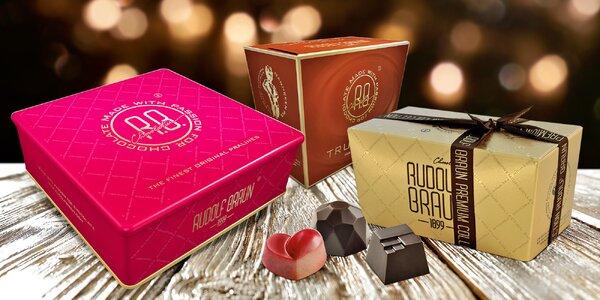 Belgické čokoládové lanýže a bonbóny Rudolf Braun
