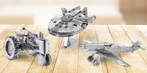 Kovové 3D puzzle: lodě, tanky, letadla i vzducholoď