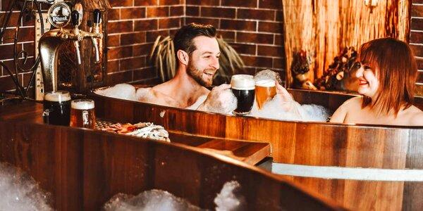 Pivní lázně a sauna s občerstvením