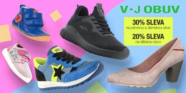 20–30% sleva na boty v e-shopu V+J obuv