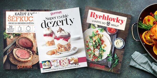 Balíček 3 kuchařských speciálů časopisu Gurmet