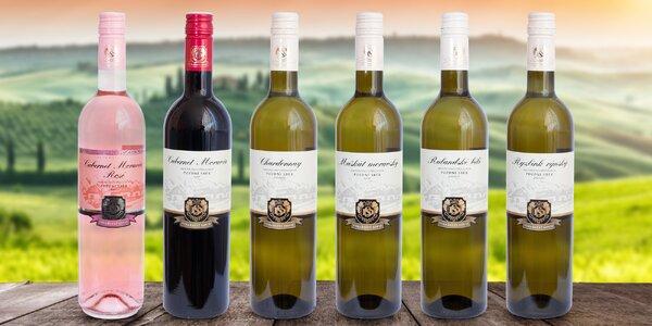 Set 6 výběrových vín z vinařství Soviš: pozdní sběr