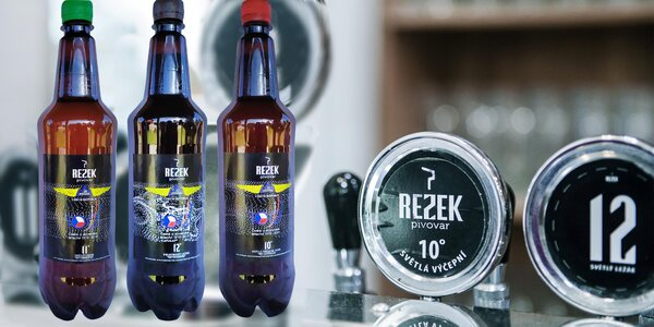 10 litrových piv z minipivovaru Rezek s sebou