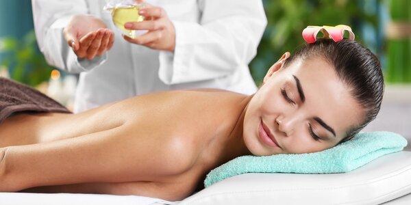 20min. masáž hlavy i olejové masáže dle výběru
