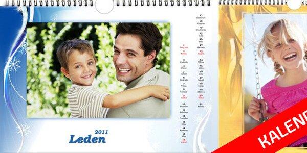 145 Kč za nástěnný kalendář z Vašich vlastních fotek. Sleva 50%!