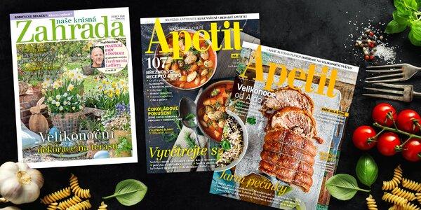 Předplatné časopisů Apetit a Naše krásná zahrada