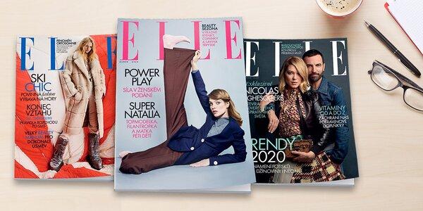 Čtvrtletní předplatné módního časopisu Elle